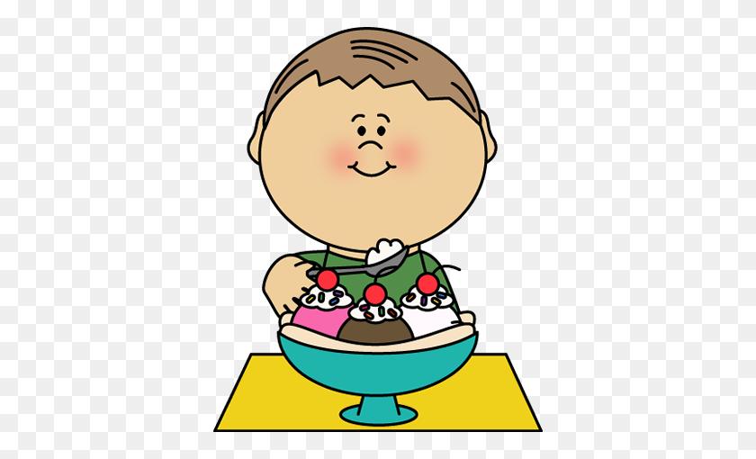 Boy Eating Dinner Clipart - Eat Dinner Clipart