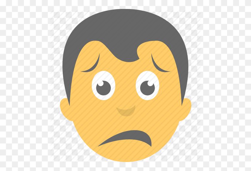 Boy Emoji, Disappointed, Emoticon, Sad Face, Unhappy Icon - Sad Emoji Clipart