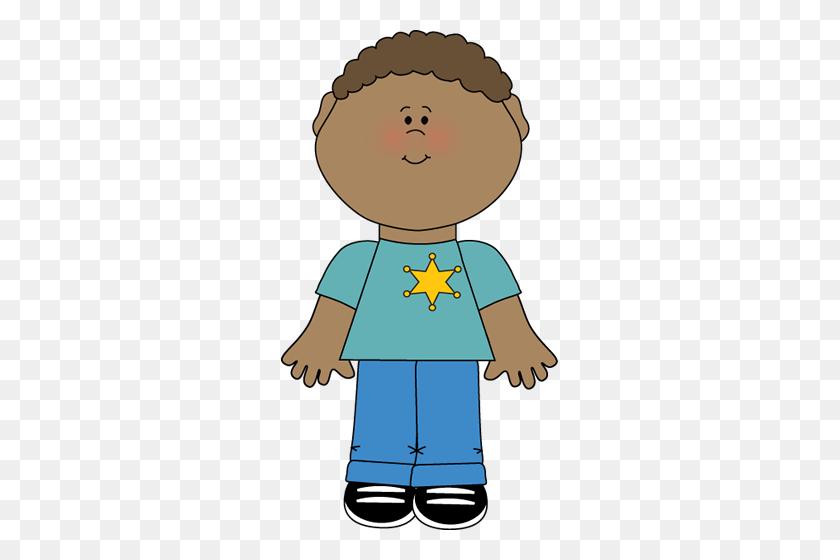 Boy Wearing A Sheriff's Badge Classroom Job Clip Art - Sheriff Badge Clipart