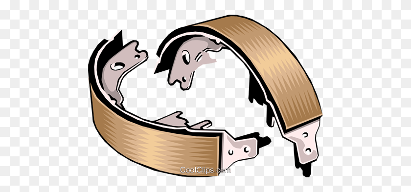 Brake Pads Royalty Free Vector Clip Art Illustration - Brake Clipart