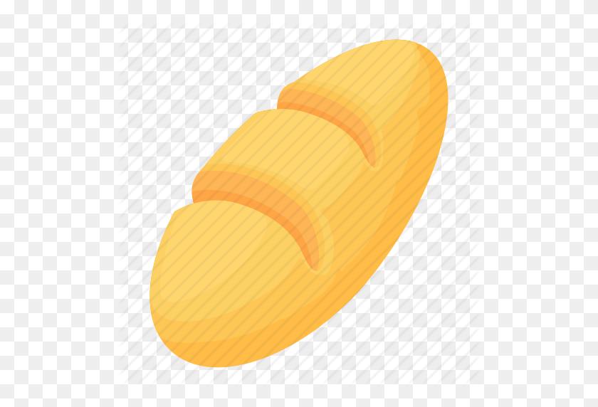 Bread, Breakfast, Bun, Cartoon, Grain, Loaf, Wheat Icon - Loaf Of Bread PNG