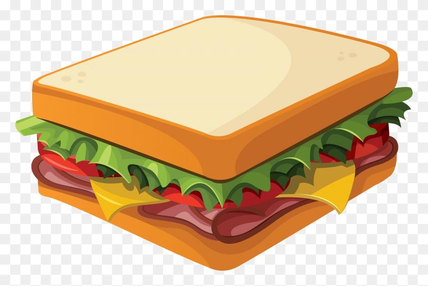3445x2218 Breakfast Clipart Breakfast Sandwich - Breakfast Clipart Black And White