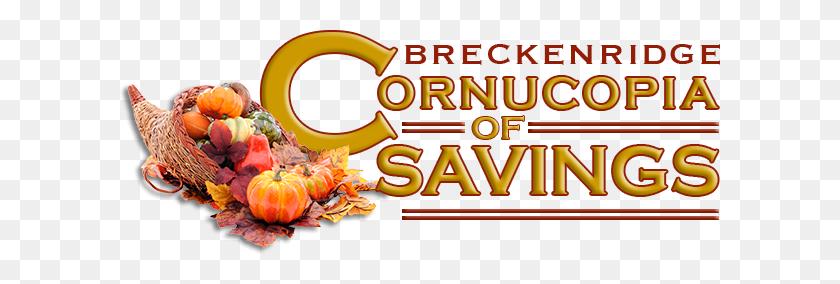 Breckenridge Cornucopia Of Savings! - Thanksgiving Cornucopia Clipart