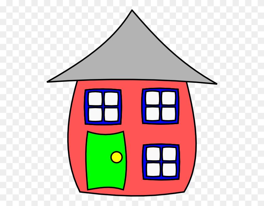 546x597 Brick House Clipart - Front Porch Clipart