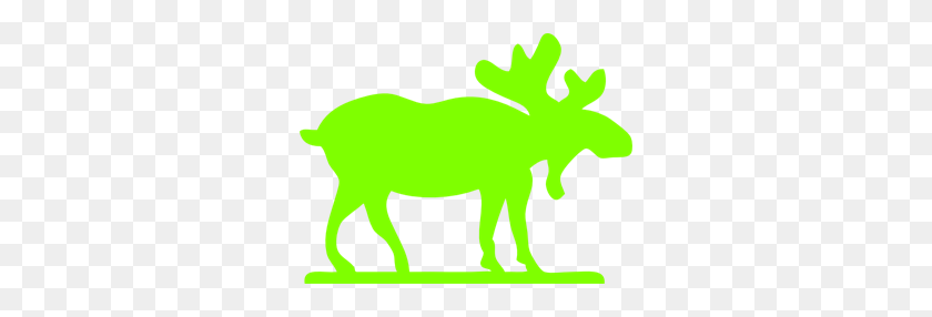 300x226 Bright Green Moose Png Clip Arts For Web - Moose PNG