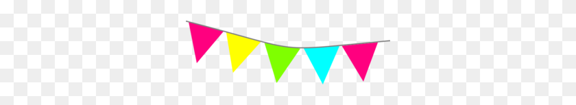 Bright Pennant Banner Clip Art - Pennant Banner Clipart