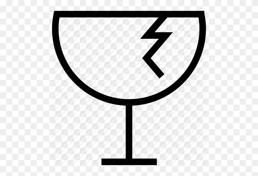 Broken, Broken Glass, Fragile, Glass, Packaging Symbol Icon - Broken Glass PNG