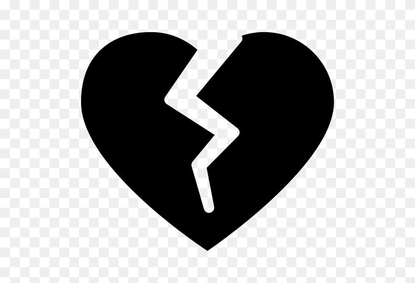 Broken Heart Silhouette Shape Png Icon - Heart Shape PNG