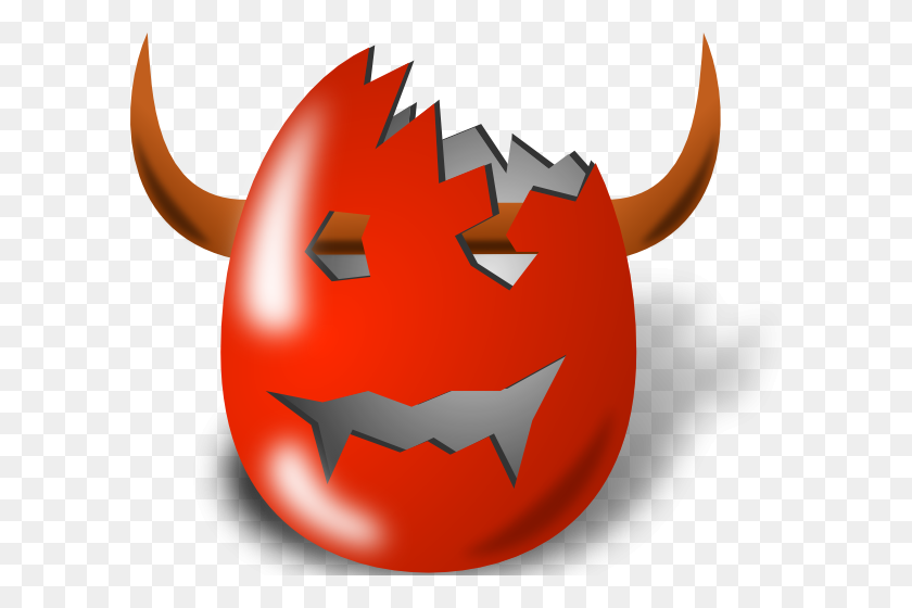 Broken Wicked Easter Egg Shell Clip Art Free Vector - Broken Egg Clipart