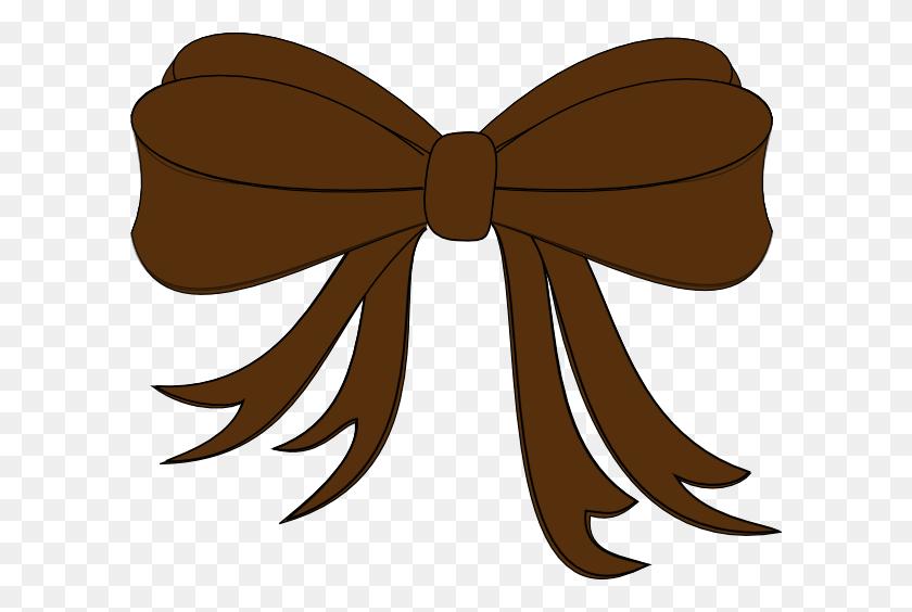 Brown Bow Ribbon Clip Art - Ribbon Bow Clipart