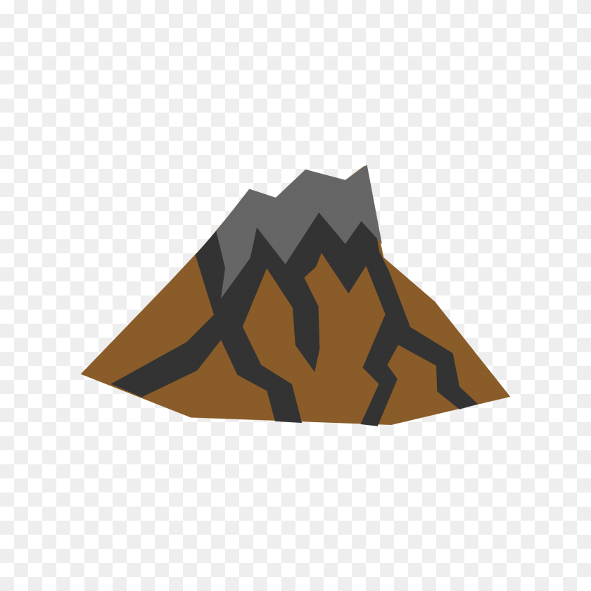 2400x2400 Brown Clipart Volcano - Ash Clipart