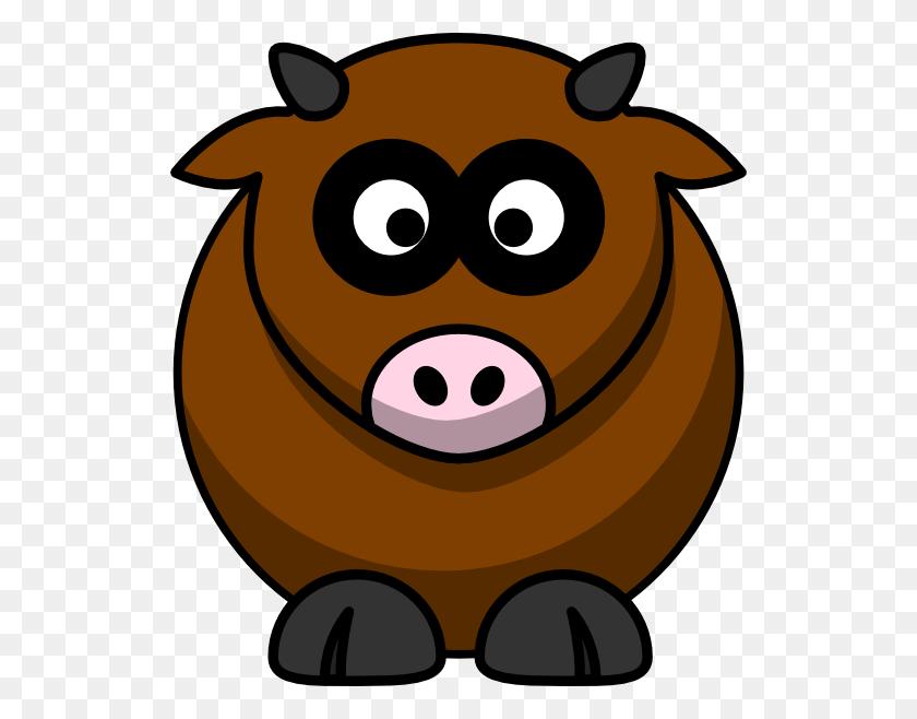 528x598 Brown Cow Clip Art - Free Cow Clipart