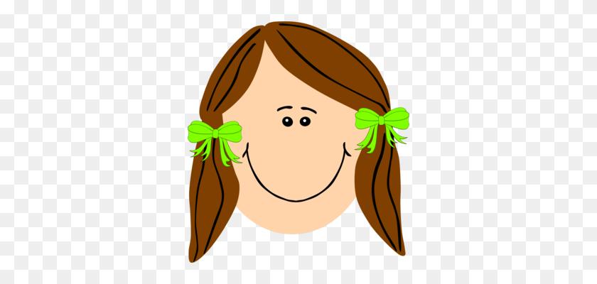Brown Hair Computer Icons Blue Hair Black Hair - Girl With Brown Hair Clipart
