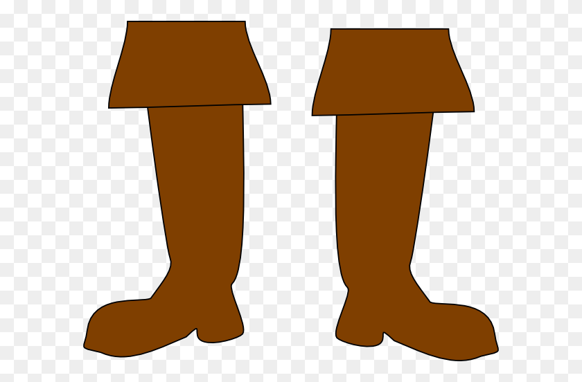 Brown Pirate Boots Clip Art - Thigh Clipart