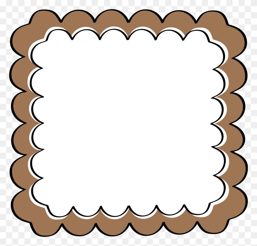 Brown Scalloped Frame - Scalloped Frame Clipart