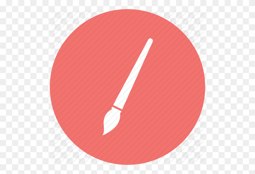 Brush, Paint Brush, Stroke, Touch Icon - Red Brush Stroke PNG