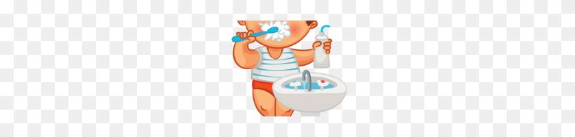 Brush Teeth Clipart Stock Illustration Kid Brushing Teeth Clipart - Child Brushing Teeth Clipart