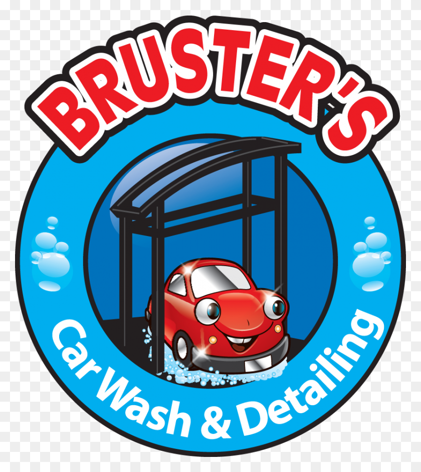Brusters Car Wash Detailing Logo Bruster's Car Wash - Car Wash PNG