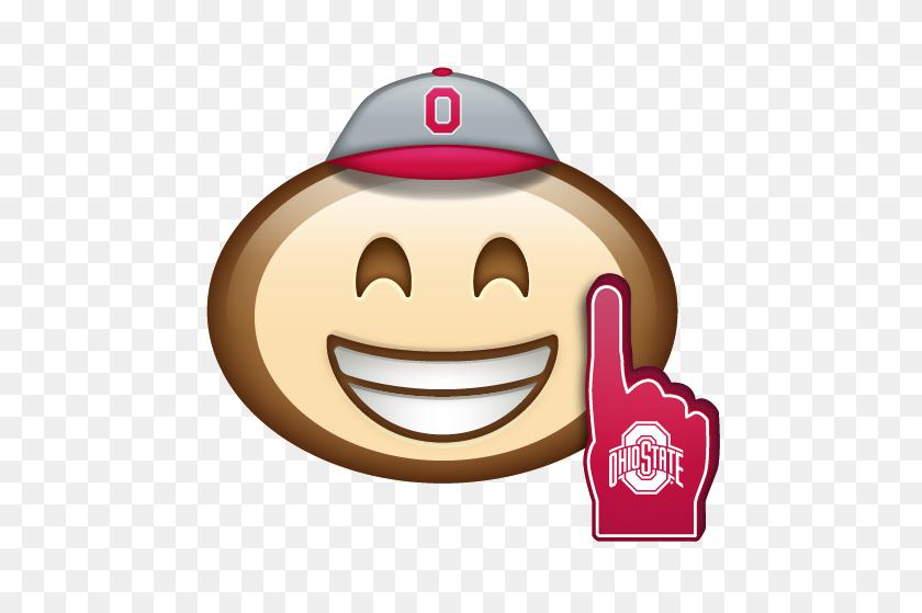 Brutus Emoji - Ohio State Buckeyes Clipart