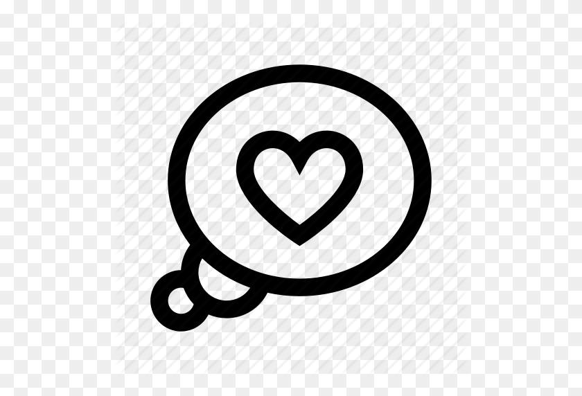 Bubble, Heart, Love, Romantic, Think Icon - Think Bubble PNG
