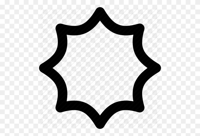 Bubble Speech, Burst, Crystallize, Illustrator, Shape, Star, Tool Icon - White Burst PNG