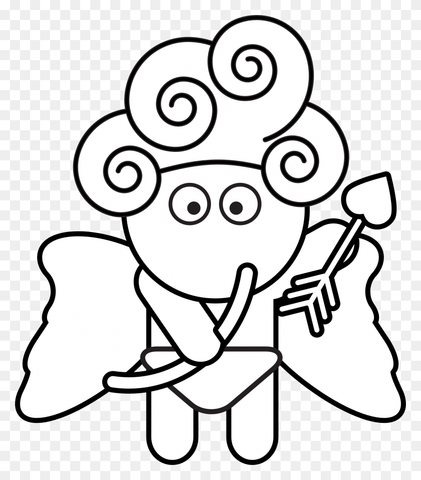 Bubbles As Cupid - Bubbles Clipart Black And White