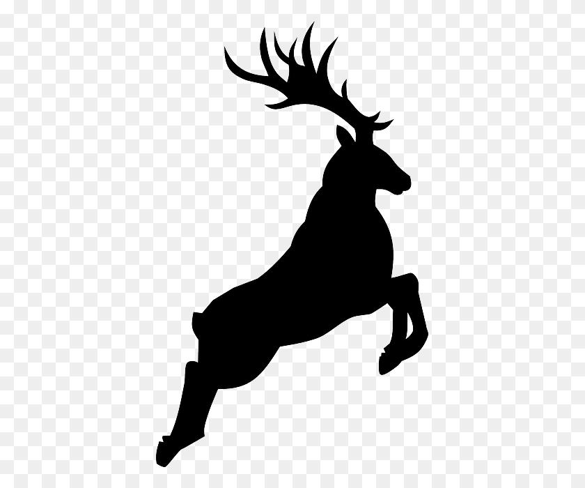 Buck Deer Silhouette - Deer Silhouette PNG