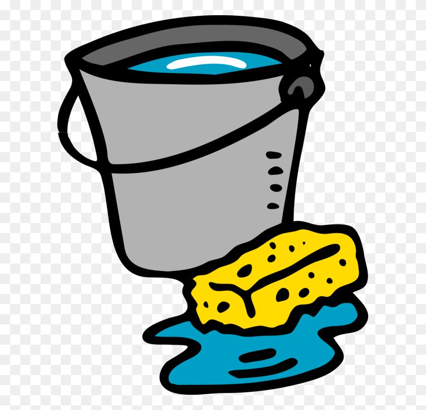 613x749 Bucket Cleaning Sponge Download Kitchen - Mop Bucket Clipart