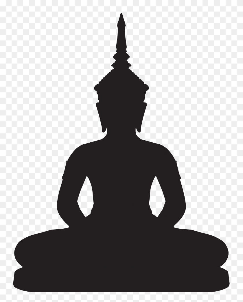 Buddha Statue Silhouette Png Clip Art - Person Clipart PNG