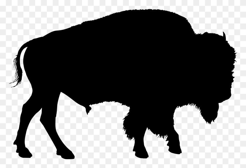 2316x1524 Buffalo Clipart Silhouette - Longhorn Silhouette Clipart