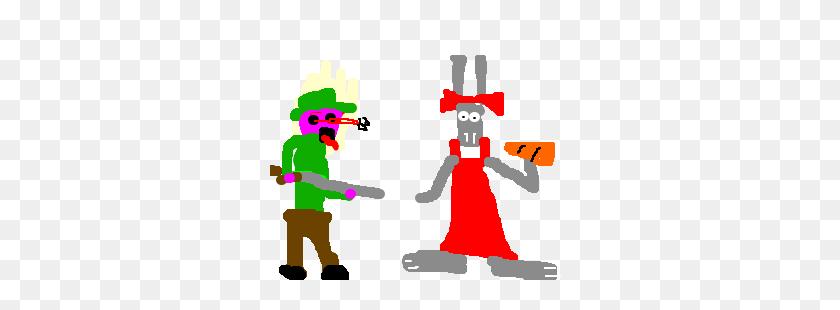 Bugs Bunny In Drag Fools Elmer Fudd - Elmer Fudd Clipart
