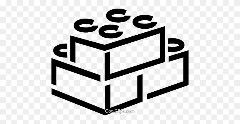 Building Blocks Royalty Free Vector Clip Art Illustration - Toy Blocks Clipart