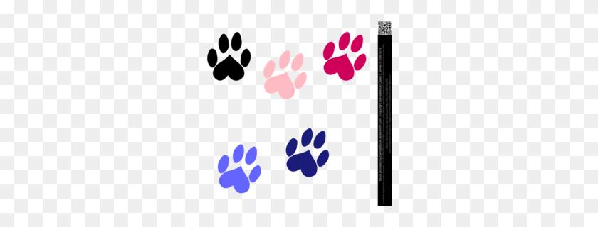Bulldog Paw Prints Happy Clipart - Bulldog Puppy Clipart