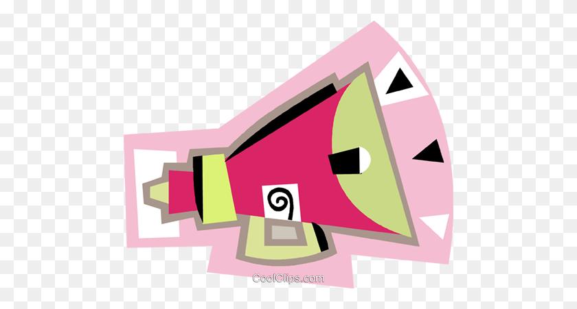 Bullhorn, Megaphone Royalty Free Vector Clip Art Illustration - Bullhorn Clipart