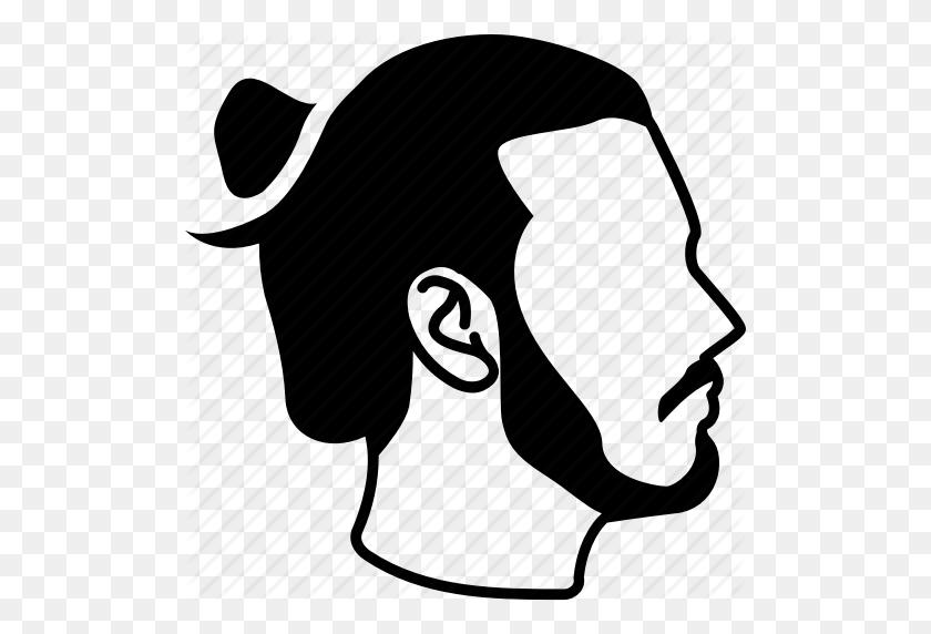 Bun, Hair, Male, Manbun, Mens, Samurai Icon - Mens Hair PNG