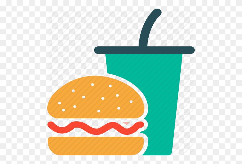 Burger, Drink, Fast Food, Junk Food Icon - Junk Food PNG