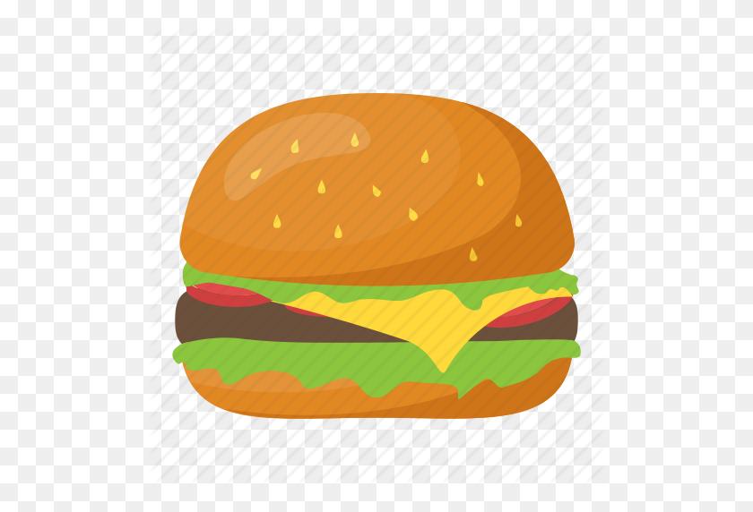 Burger, Fast Food, Food, Hamburger, Junk Food Icon - Junk Food PNG