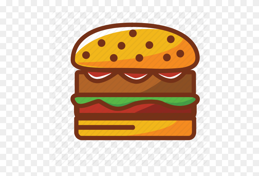 Burguer Dinner Fast Food Food Hamburguer Meat Icon