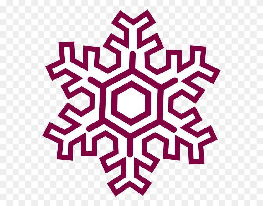 Burgundy Snowflake Clipart Clip Art - Snowflakes Falling Clipart