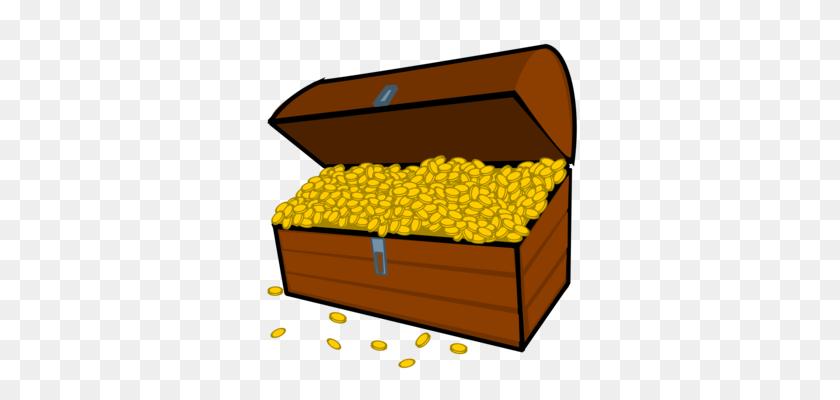 Buried Treasure Open Treasure Box Treasure Map Piracy Free - Open Box Clipart