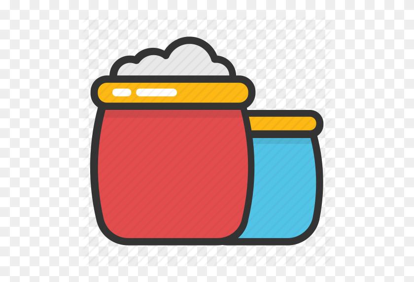 512x512 Burlap Sack, Dried Beans Sack, Food Bag, Food Storage, Rice Sack - Rice And Beans Clipart