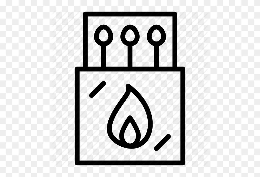 Burning Match, Fire, Flame, Lit Match, Match Sticks Icon - Oil Derrick Clipart