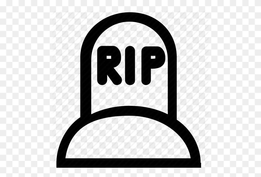 Bury, Cemetery, Grave, Gravestone, Halloween, Rip, Tombstone Icon - Rip Tombstone Clipart