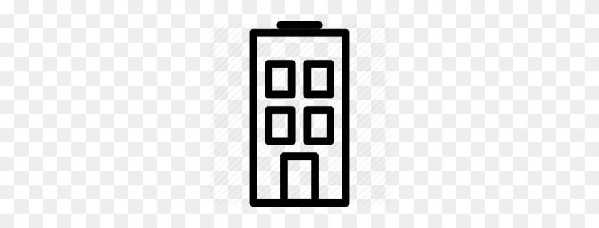 Business Building Outline Clipart - Business Building Clipart