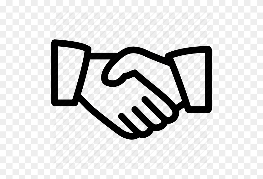 512x512 Business, Hand, Handshake, Line Icon, Meeting Icon - Meeting Icon PNG