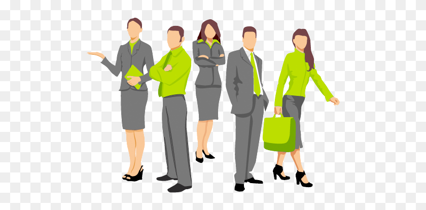 Business People High Quality Clipart - People Standing PNG