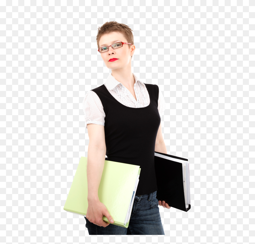 500x745 Business Woman Holding In Her Hands Png Image - Business Woman PNG