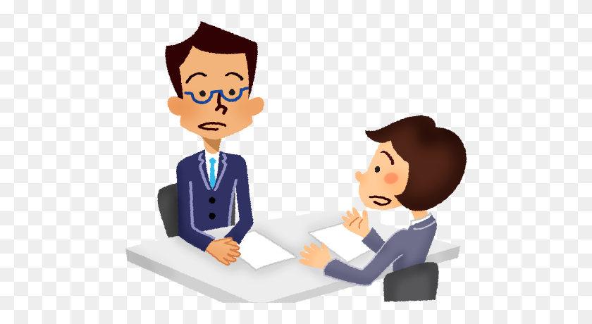 484x400 Businessman And Businesswoman Having A Meeting - Meeting PNG