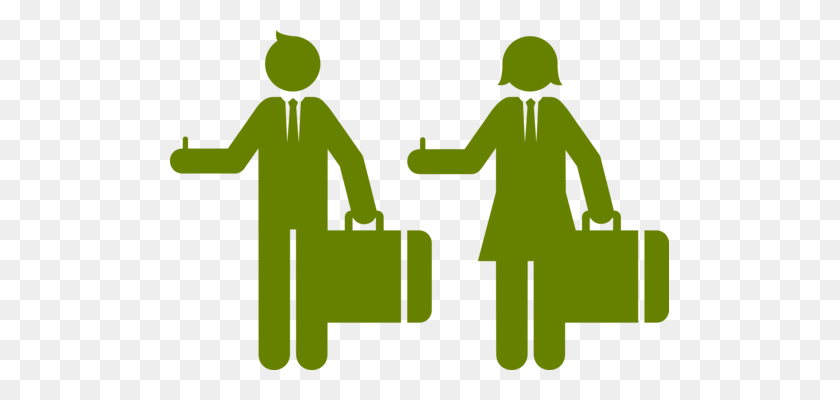 Businessperson Silhouette Manager Management - Business Person Clipart