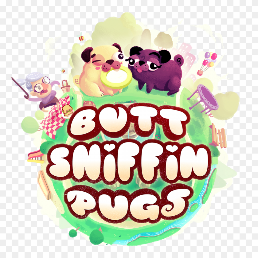 Butt Sniffin Pugs - Pig Butt Clipart